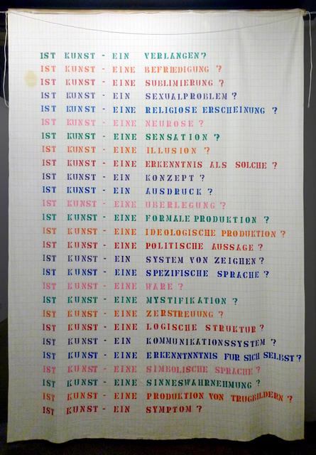, 'Ist Kunst (Interrogations sur l'art) ,' 1975, espaivisor - Galería Visor