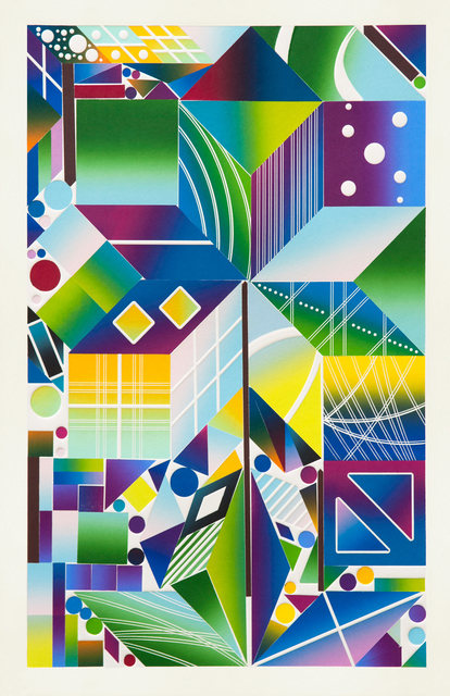 Polly Apfelbaum, 'Atomic Mystic Aura 15', 2017, Durham Press, Inc.