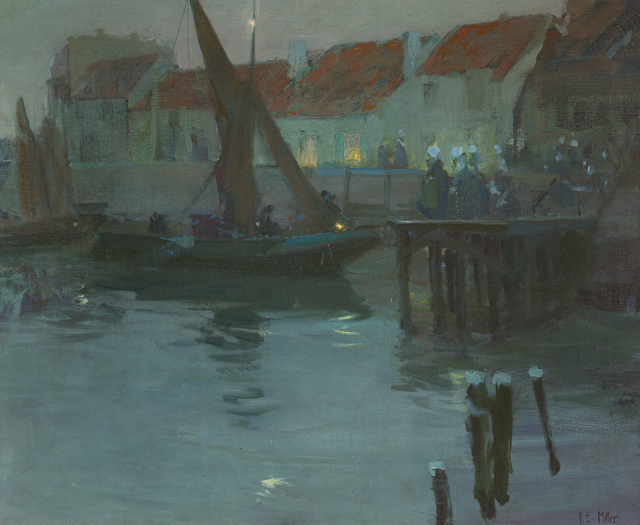 , 'The Harbor at Night, Concarneau,' , Debra Force Fine Art
