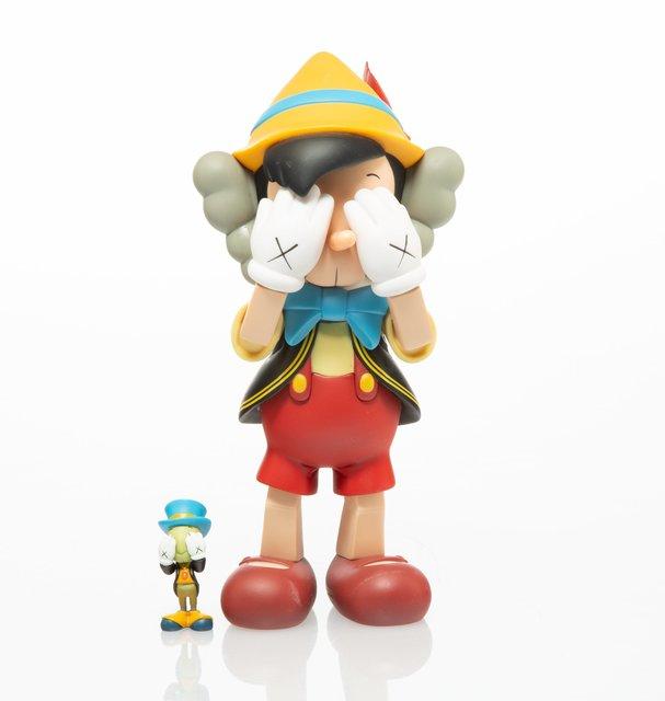 KAWS, 'Pinocchio & Jiminy Cricket', 2010, Sculpture, Painted cast vinyl, Heritage Auctions