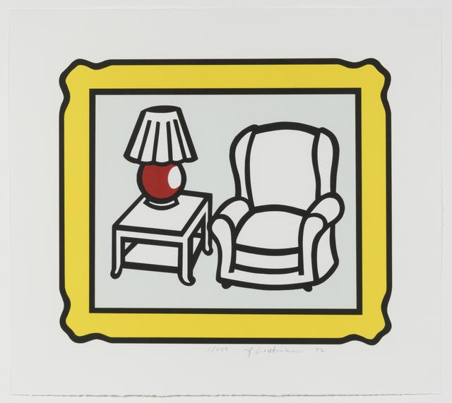 , 'Red Lamp,' 1992, Leslie Sacks Gallery