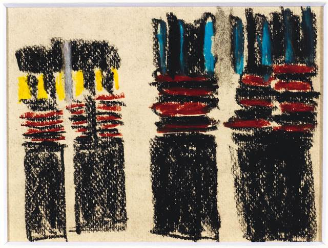 Aurelie Nemours, 'Re Past 22C', 1955, Drawing, Collage or other Work on Paper, Pastel on firm wove paper, Koller Auctions