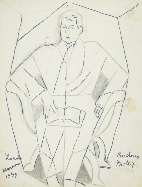 Marie Vorobieff Marevna, 'Portrait of Rodney Phillips, seated reading a book', Roseberys