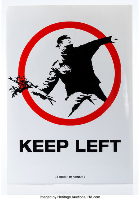 Banksy, 'Keep Left, sticker', 2006, Heritage Auctions