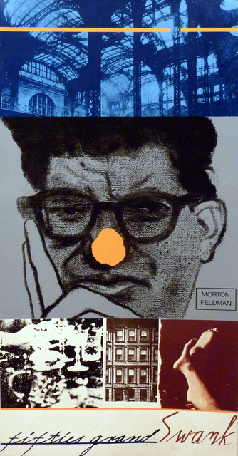 , 'fifties grand Swank: Morton Feldman,' 1968, Marlborough Gallery