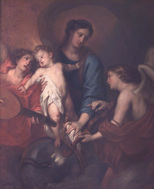 Anthony van Dyck, ' Madonna and Child with angel musicians', XVII sec., Accademia Nazionale di San Luca