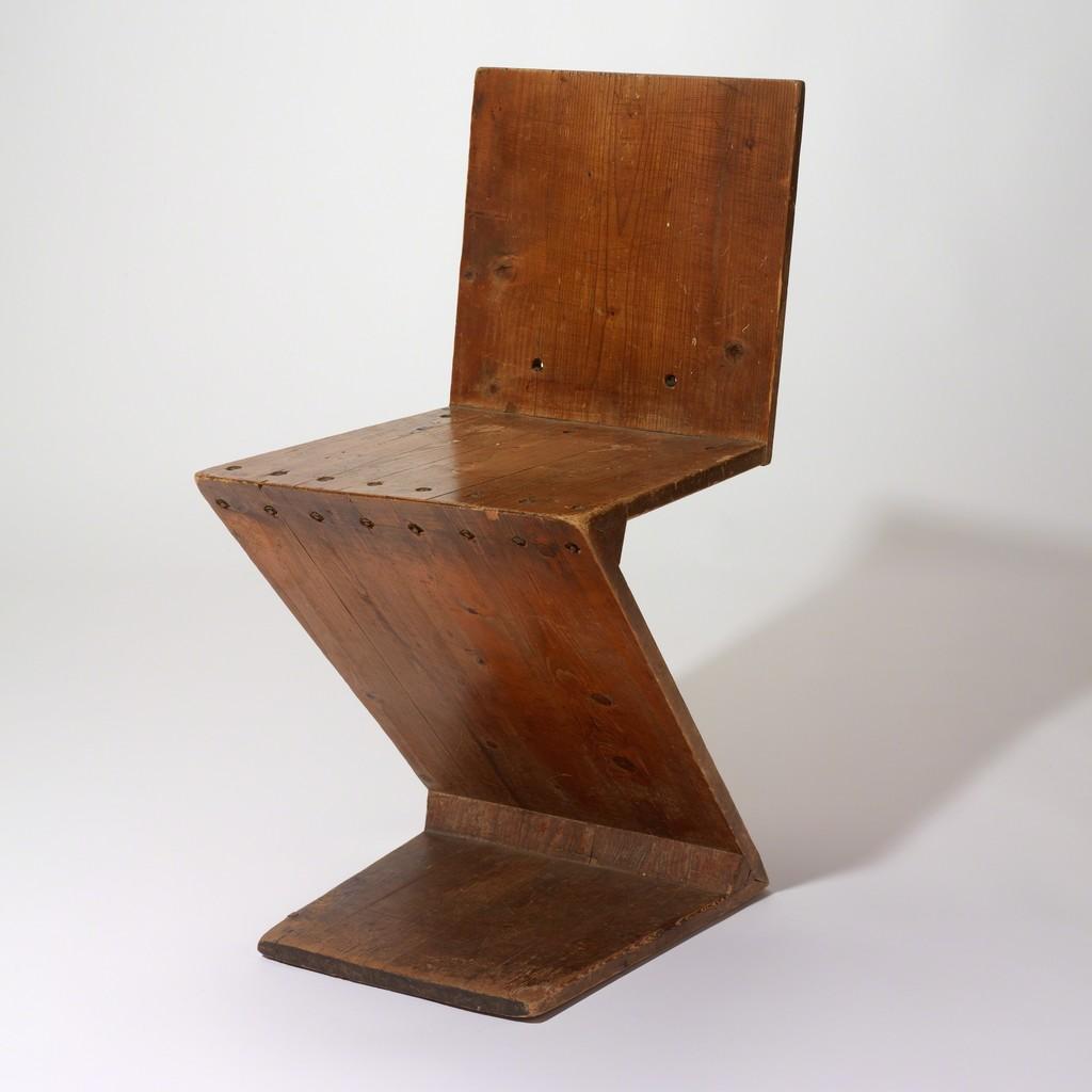 Gerrit Thomas Rietveld, U0027Zig Zag Chairu0027, 1941, RISD Museum