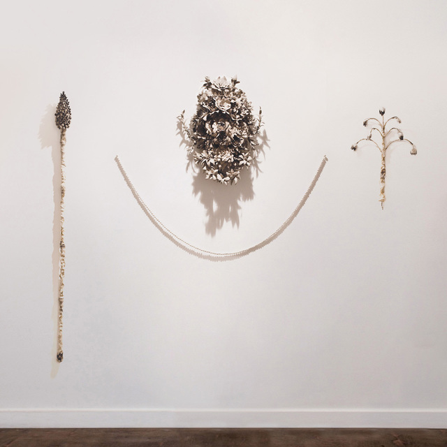 , 'Horsetail Staff, Middlemist Mud Mask & Fritillary Rattle,' 2017, Anima-Mundi