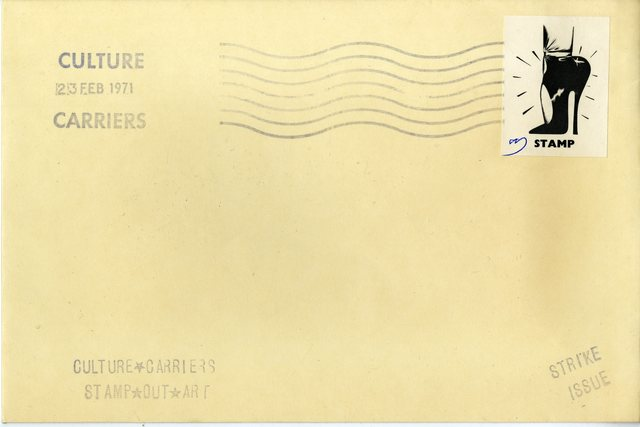 , 'CULTURE CARRIERS STAMP OUT ART (SIGNED) from the collection of art critic Anthony Haden Guest,' 1971, Alpha 137 Gallery