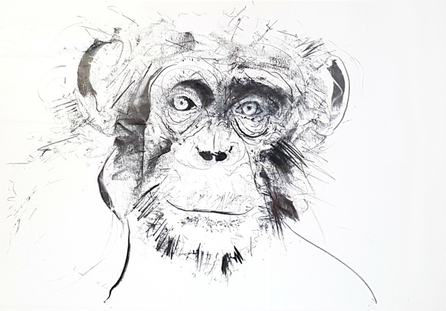 Dave White, 'Chimp - Original', 2017, Hang-Up Gallery