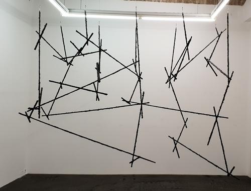 , 'Als der Strich begann den Raum für sich zu entdecken,' 2018, Lukas Feichtner Gallery