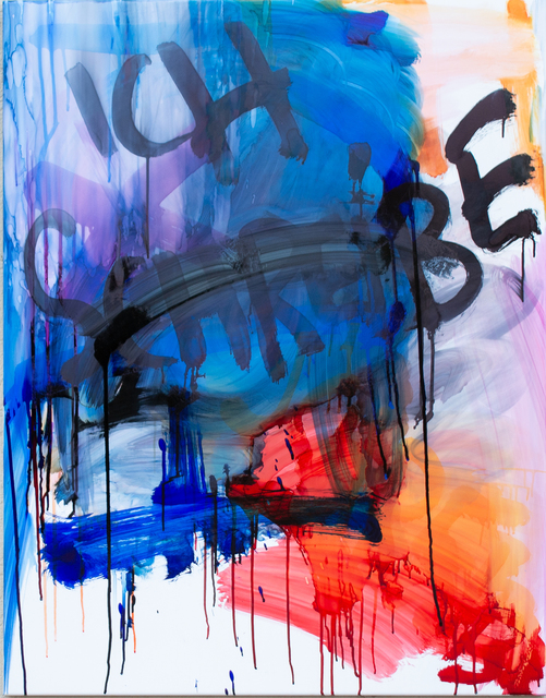 Thierry Furger, 'SCHRIFTENMALER 02', 2020, Painting, Ink and acid on white aluminium, KOLLY GALLERY