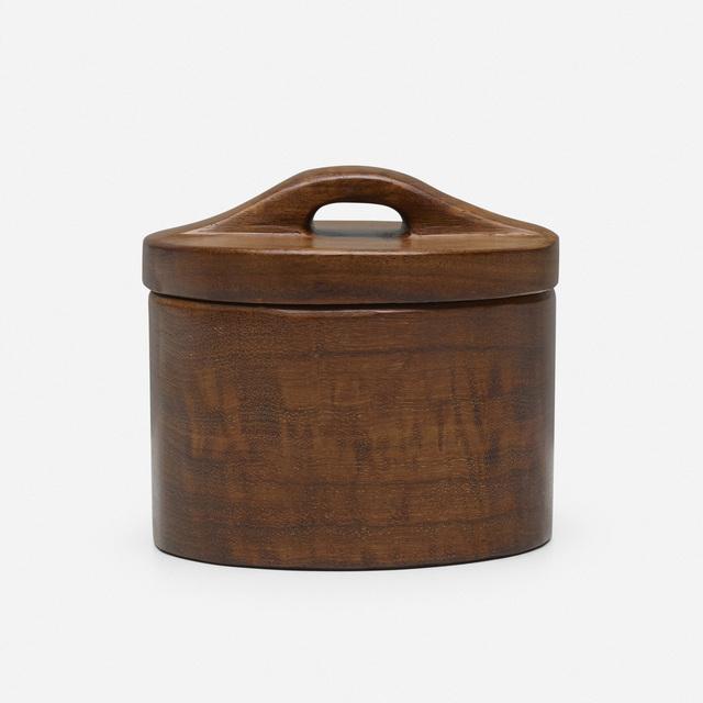 Alexandre Noll, 'lidded box', c. 1950, Design/Decorative Art, Carved walnut, Rago/Wright