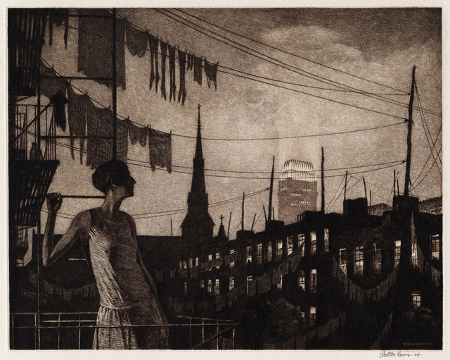, 'Glow of the City.,' 1929., The Old Print Shop, Inc.