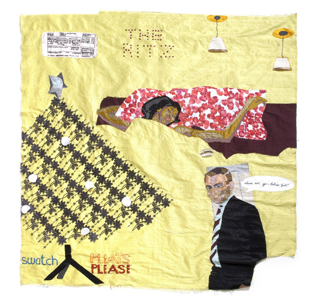 Billie Zangewa, 'Christmas at the Ritz', 2006, Textile Arts, Embroidered silk, patchwork, Magnin-A