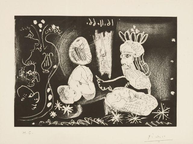 Pablo Picasso, 'Au Theatre Scene Dans Le Style Des Mille Et Une Nuits (Bloch 1251)', 1968, Sworders