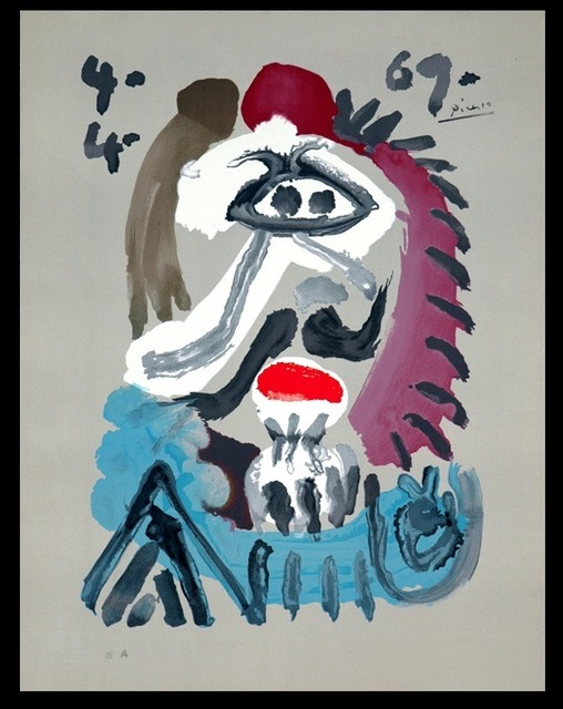 """Pablo Picasso, 'Series of """"Imaginary portraits"""", about the kings of Spain """" 4.4.69 """"', 1971, BOCCARA ART"""