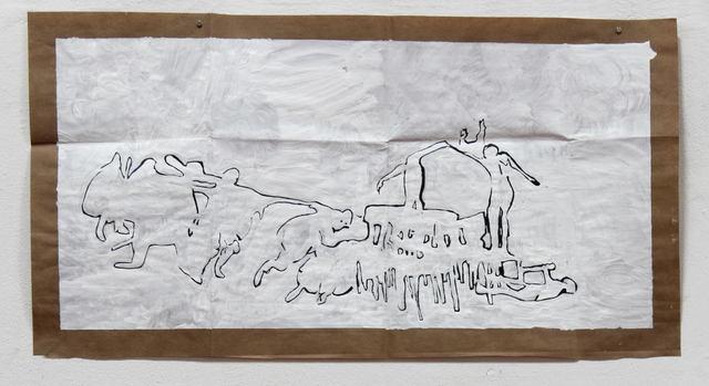 , 'Sin título (curvar el hierro),' 2013, Nora Fisch
