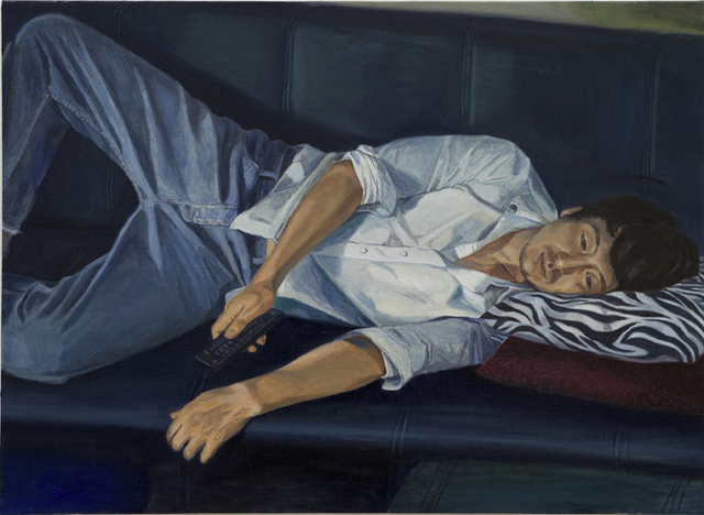 , 'Evening-Bohyung's Living Room-on Sofa,' 2011, ONE AND J. Gallery