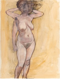 Standing Female Nude in Two Poses