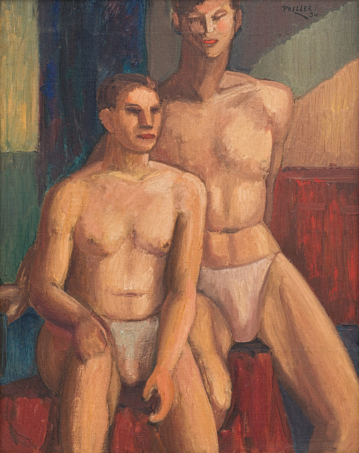 Alexis Preller, 'Two Male Nudes', Strauss & Co