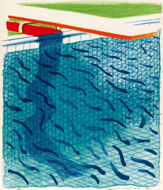 David Hockney, 'Pool made with paper and blue ink for book', 1980, Frestonian Gallery