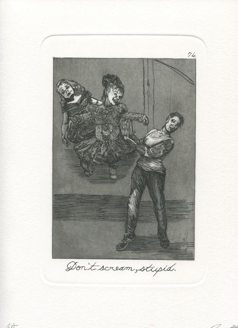 Emily Lombardo, 'Don't scream stupid, from The Caprichos', 2016, Print, Etching and aquatint, Childs Gallery