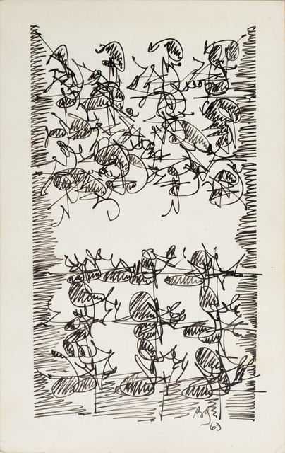 , 'Brion Gysin, Calligraphy for Terry, Beat Hotel  ,' 1963, October Gallery