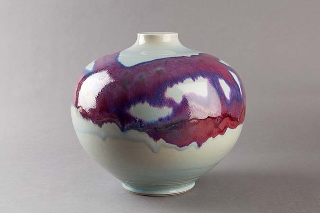 , 'Vase, copper red and opal glaze,' , Pucker Gallery