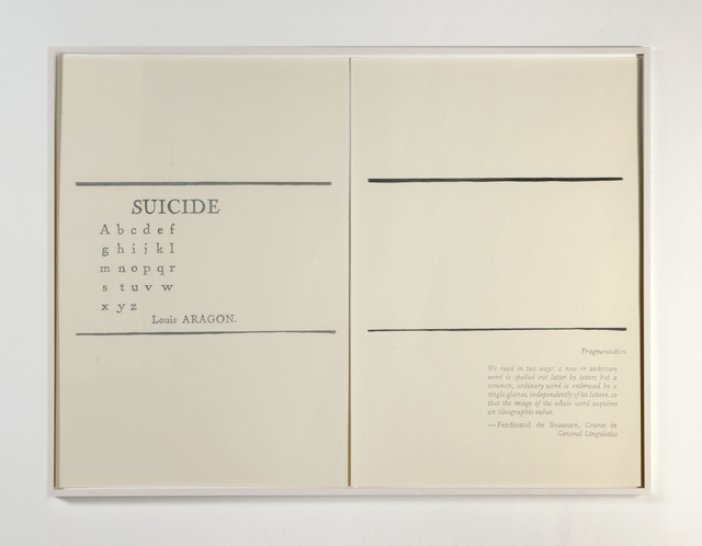 , 'Suicide / Fragementation,' 2013-2014, Albert Baronian