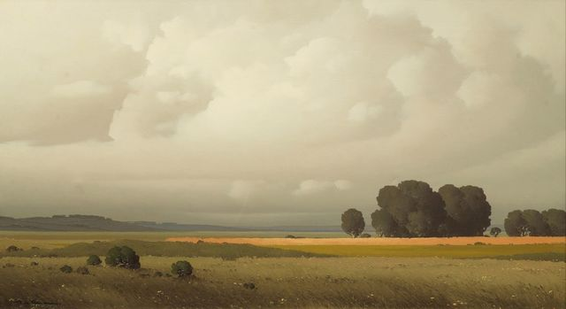 Pierre De Clausade Landscape With Clouds And Trees Ca