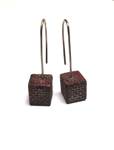 , 'Brickwork Cube Earrings,' 2017, Facèré Jewelry Art Gallery