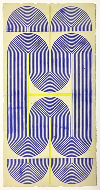 Elise Ferguson, 'Central N', 2020, Painting, Pigmented plaster on paper, Massey Klein Gallery