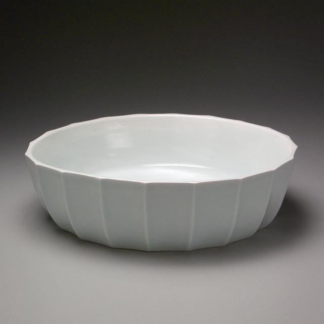 , 'White Porcelain Depp Faceted Bowl,' 2004, LACOSTE / KEANE GALLERY