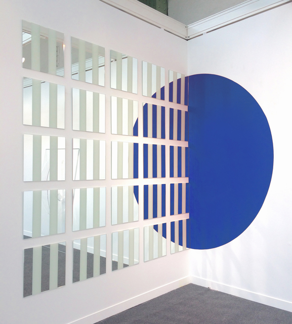 , 'Le 1/2 cercle doublé mais, Blue,' 2016, Galleria Massimo Minini