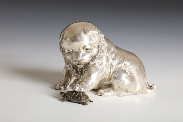 , 'Dog and Tortoise (T-3492),' Meiji era (1868, 1912), circa 1900, Erik Thomsen
