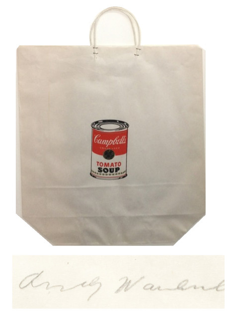 "Andy Warhol, '""Campbell's Soup Can Shopping Bag"", 1964, Bianchini Gallery NYC Exhibition Edition Silkscreen, SIGNED/Dated,  RARE', 1964, VINCE fine arts/ephemera"