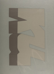 a set of four silkscreens in colours