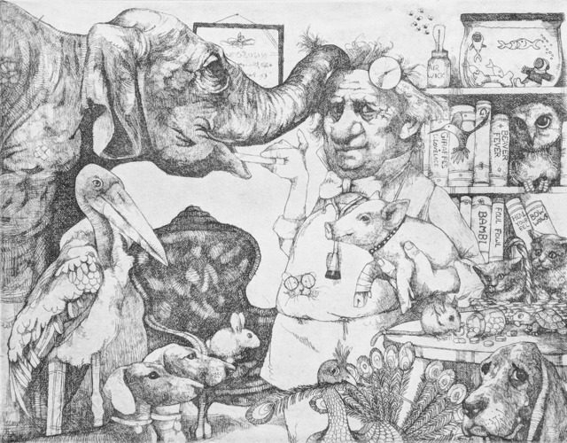 Charles Bragg, 'VETERINARIAN', Unknown, Print, ETCHING, Gallery Art