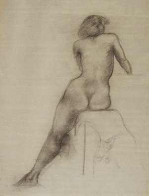 , 'Study of Seated Female Nude ,' , Kiechel Fine Art