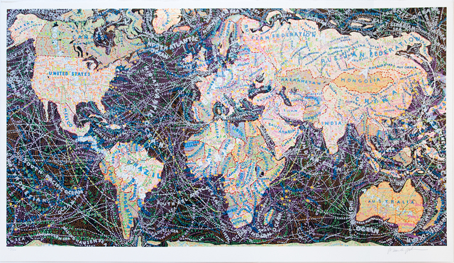 Paula Scher, 'World Trade Routes', 2019, Jim Kempner Fine Art