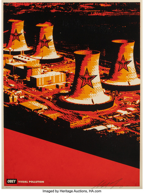 Shepard Fairey (OBEY), 'Visual Pollution Smoke Stacks', 2001, Heritage Auctions