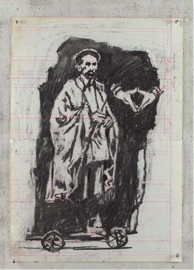 , 'Haile Selassie on the Rock I,' 2015, Lia Rumma