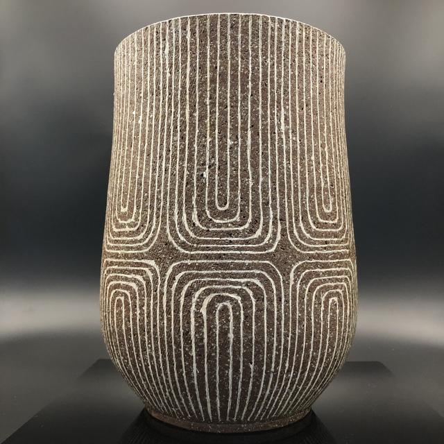 , 'Japanese Vase with Ash glaze & Geometrical design,' 20th Century, Romang Antiques Gallery - Asian Art