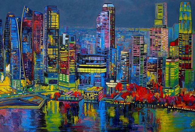 , 'Sunset in Singapore,' 2014, Barnadas Huang