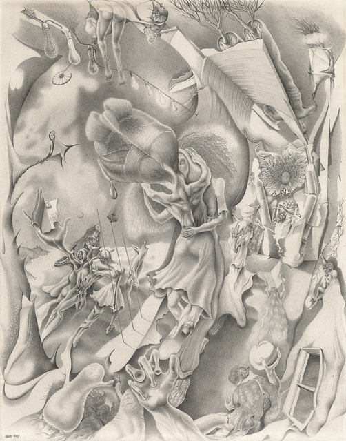 , 'Untitled [Illuminated Exterior with Morphing Dancers],' ca. 1946, Francis M. Naumann Fine Art