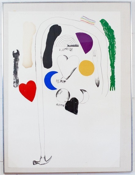 Jim Dine, 'Midsummer Wall', 1966, Print, Lithograph on Rives BFK paper, Caviar20