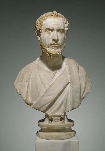 'Portrait Bust of Man, Perhaps a Priest of Serapis', ca. 180, J. Paul Getty Museum