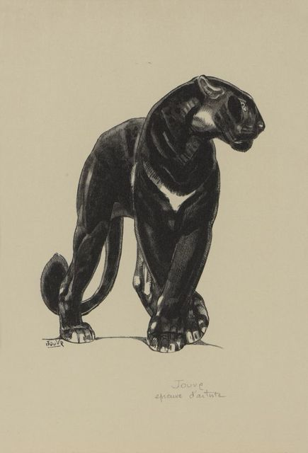 , 'Black Panther Standing,' 1948, Galerie Marcilhac