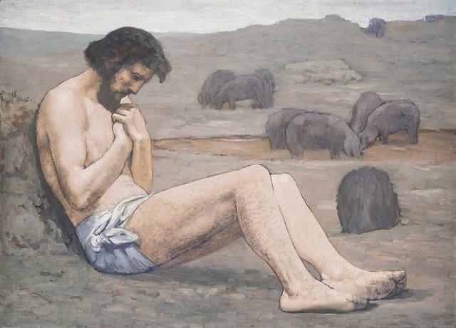 Pierre Puvis de Chavannes, 'The Prodigal Son', ca. 1879, Painting, Oil on linen, National Gallery of Art, Washington, D.C.